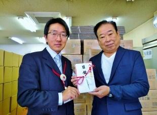 山田理事長(右)と長内エコット事務局長(左)