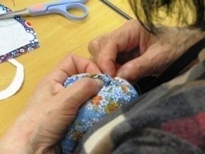 おしりを縫う